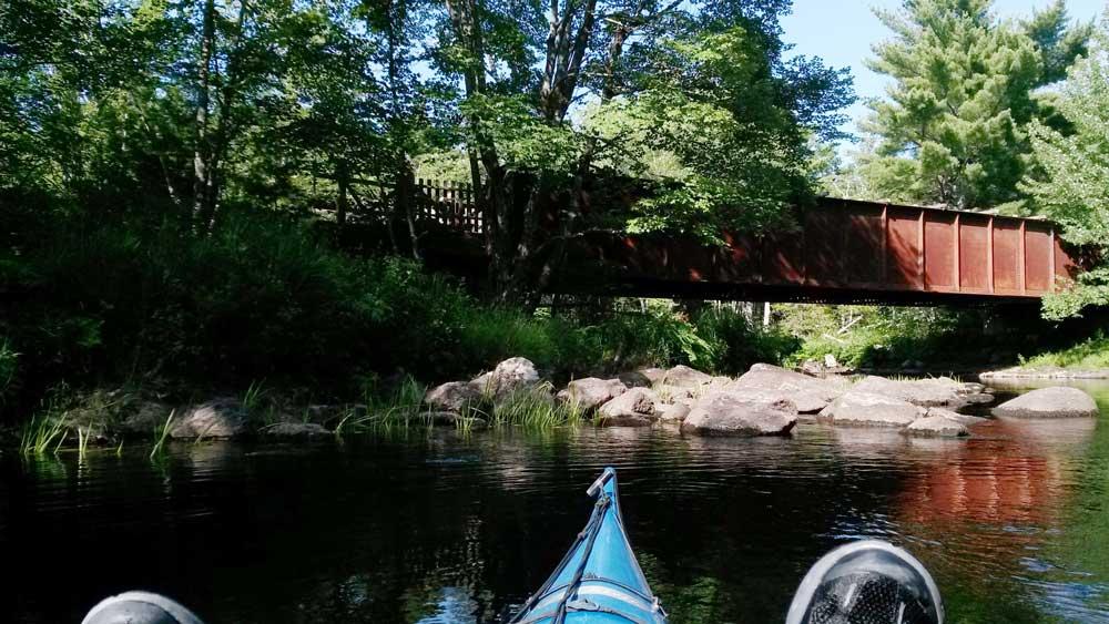 Iron bridge on rail trail